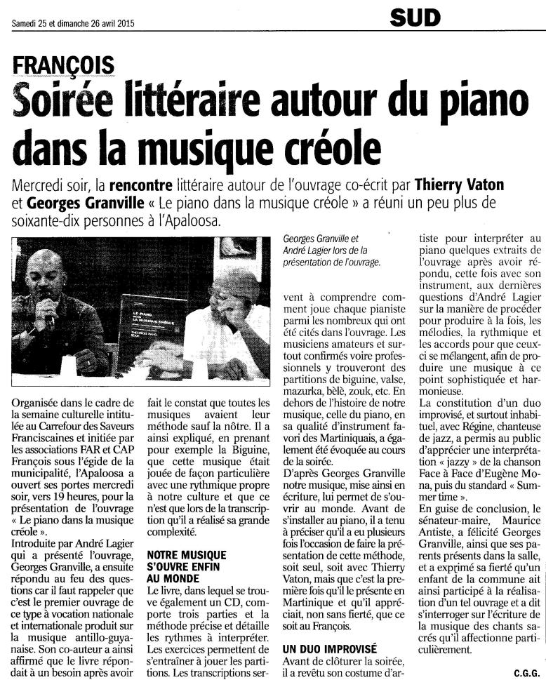 article FA 25 & 26 avril 2015